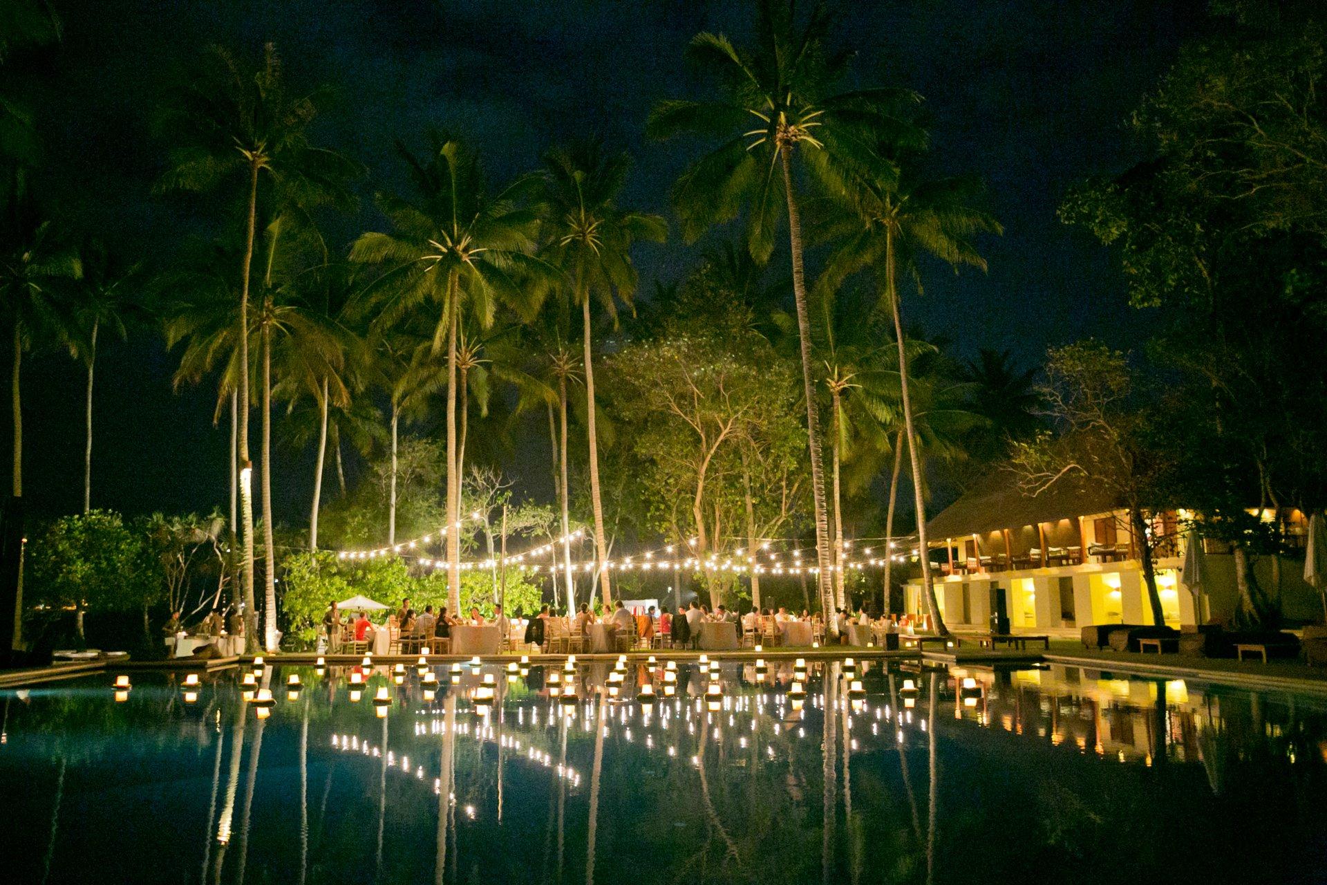 Festoon lights Alila Manggis Bali